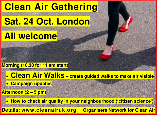 Clean Air Gathering, Saturday 24 October, London