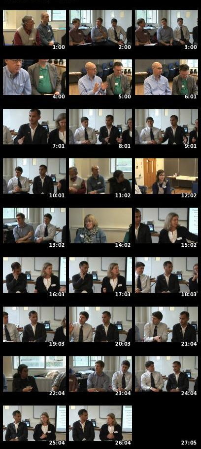 Contact sheet showing panel discussion